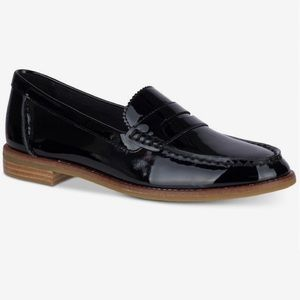 Sperry Black Patent Leather Loafers 8M